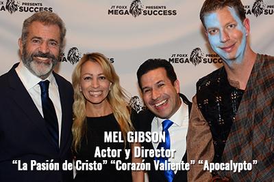Alejandro Illera con Mel Gibson